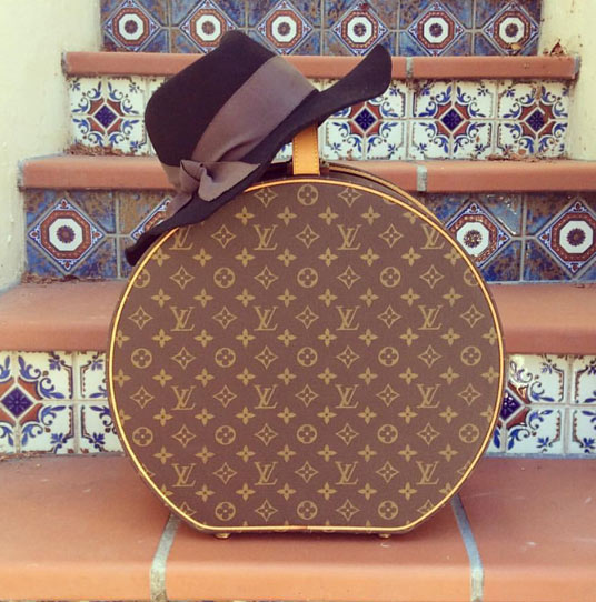 Hat with luggage